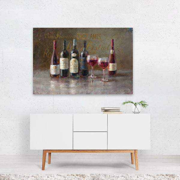 Floral Alcohol Still Life Wine Bistro Art Print