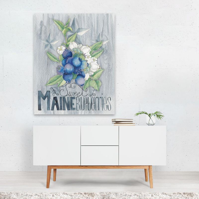 Maine Kitchen Fruit Illustration Art Print
