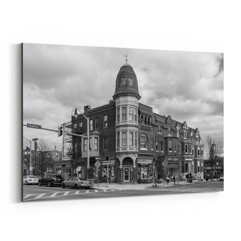 Black & White Baltimore Charles Canvas Art Print