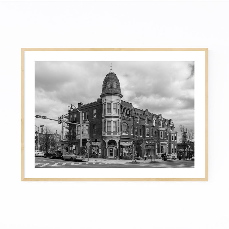 Black & White Baltimore Charles Framed Art Print