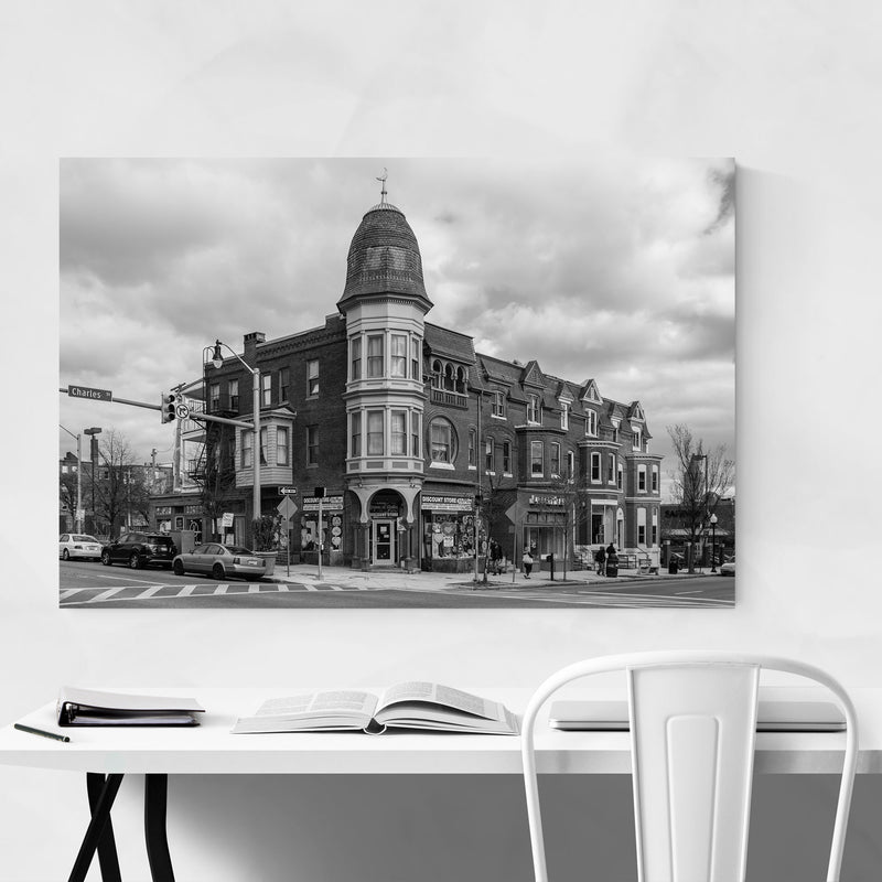 Black & White Baltimore Charles Metal Art Print