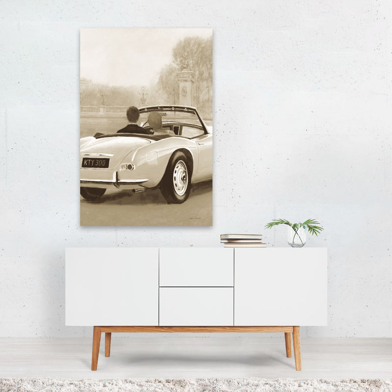 Paris France Cars Illustration Art Print