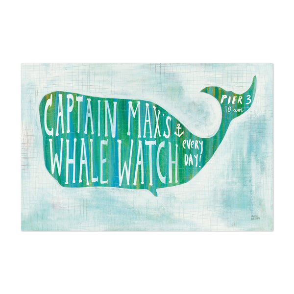 Animals Beach Whale Nature Typography Art Print