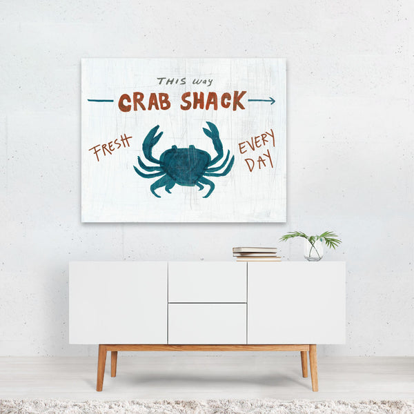 Animals Crab Crabs Nature Typography Art Print