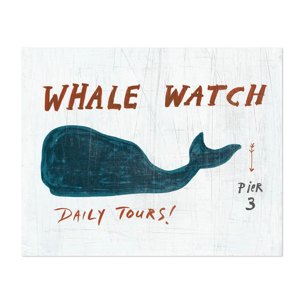 Animals Whale Nature Typography Art Print