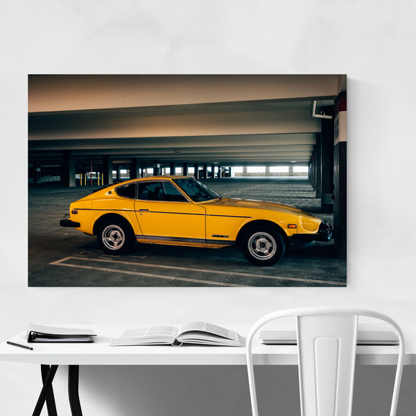 Vintage Yellow Car Nissan 280Z Art Print