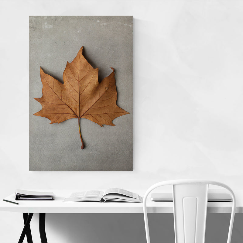 Autumn Maple Leaf Minimal Art Print