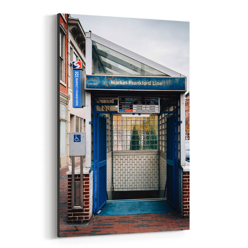 Old City Philadelphia Subway Canvas Art Print