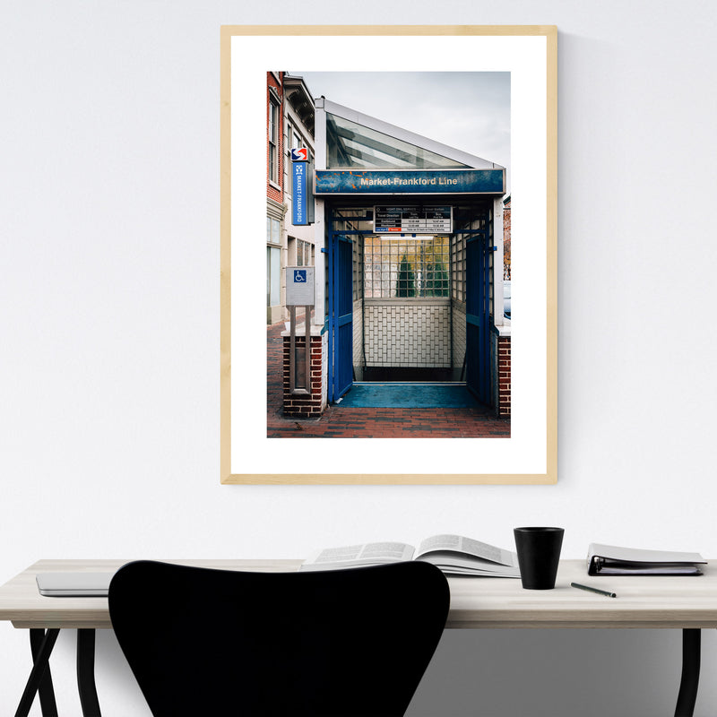 Old City Philadelphia Subway Framed Art Print