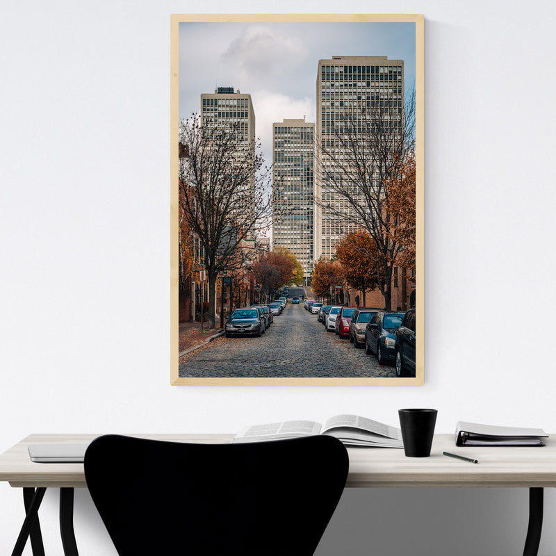 Society Hill Philadelphia Street Framed Art Print