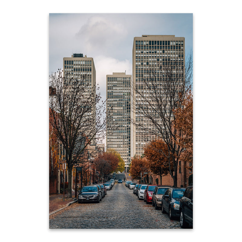 Society Hill Philadelphia Street Metal Art Print