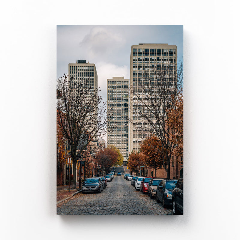 Society Hill Philadelphia Street Mounted Art Print