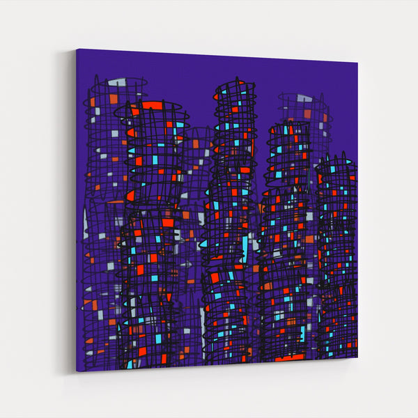 Toronto Ontario Abstract Buildings City Canvas