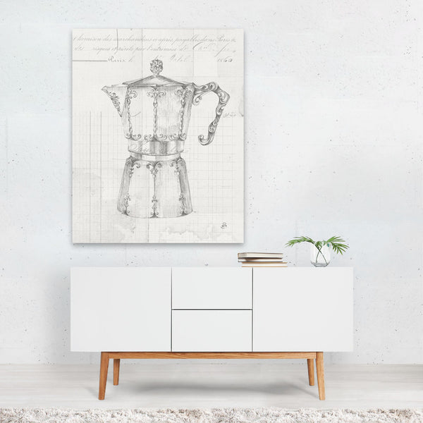 Kitchen Coffee Illustration Art Print