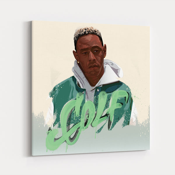 Green Illustration Music Sports Canvas
