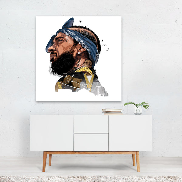 Ermias Illustration Music Nipsey Hussle Canvas