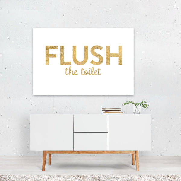 Bathroom Bat Typography Art Print