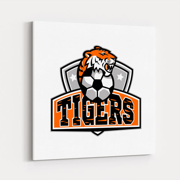Animals Football Retro Soccer Sports Canvas