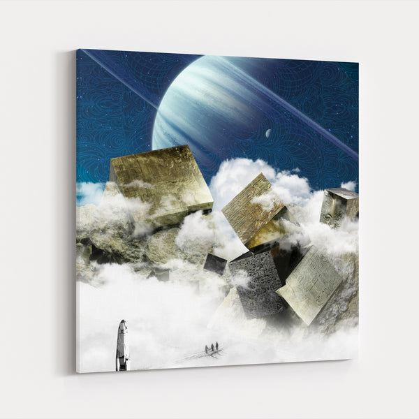 Fantasy Future Moon Planets Canvas