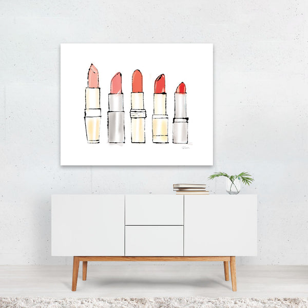 Feminine Urban Fashion Painting Art Print