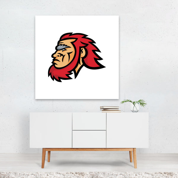 Cartoon Retro Signs Sports Symbols Canvas