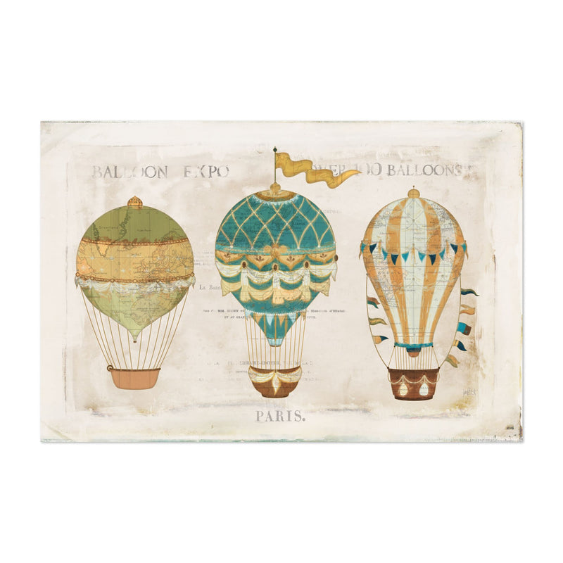 Paris France Flags Maps Balloons Art Print
