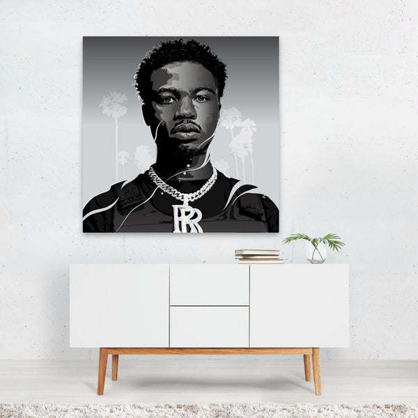 Rap Hip Hop Digital Roddy Ricch Canvas