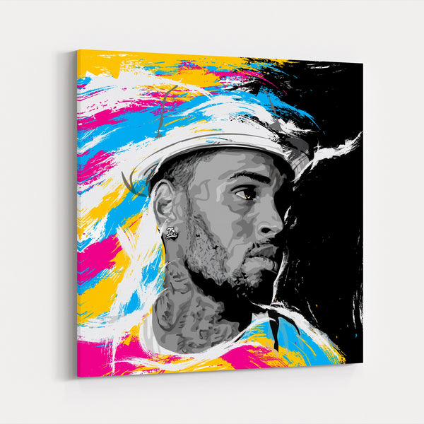 Chris Brown Music Rap Hip Hop Digital Canvas