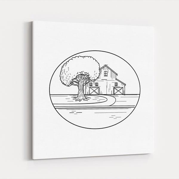 American Architecture Barn Canvas