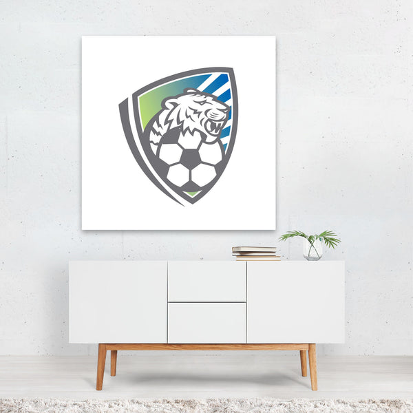 Animals Cartoon Cat Football Retro Canvas