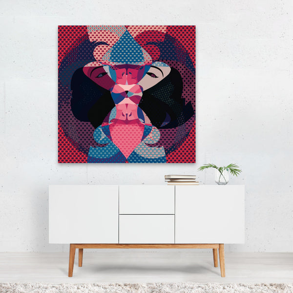Abstract Feminine Figurative Pattern Canvas