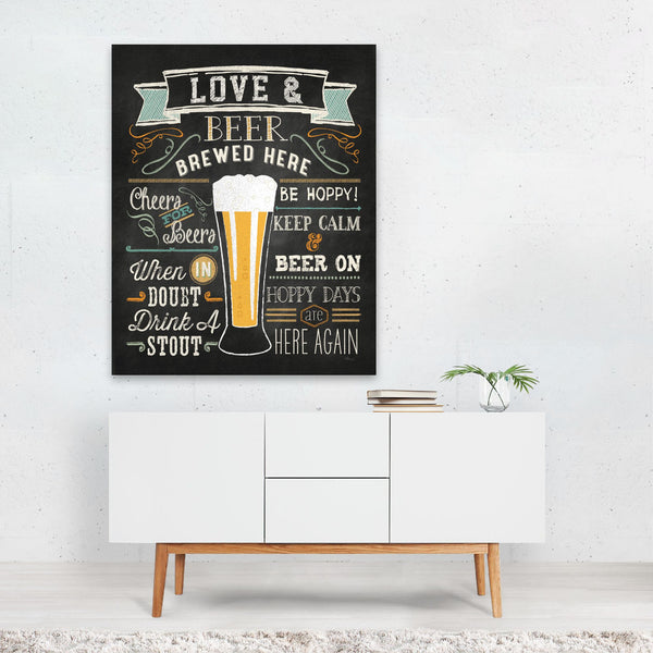 Kitchen Alcohol Beer Typography Art Print