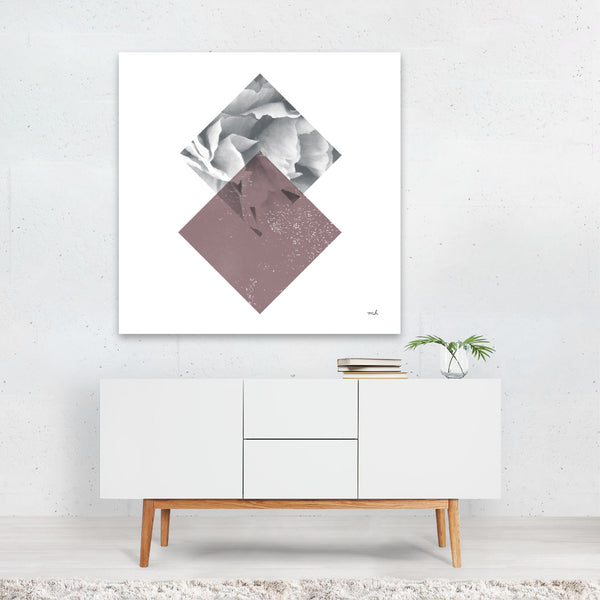 Abstract Black And White Figurative Canvas