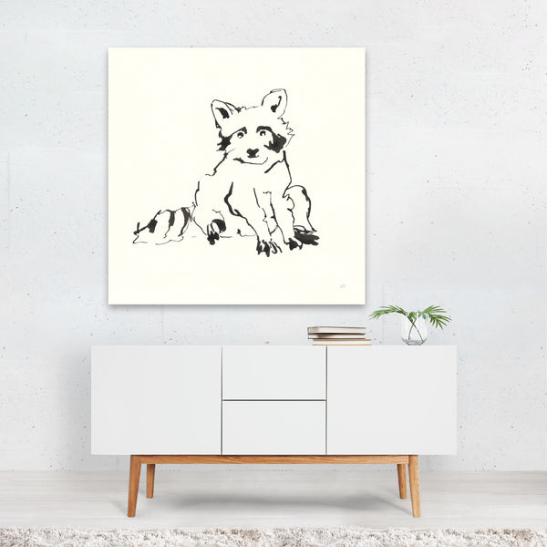 Animals Black And White Minimal Canvas
