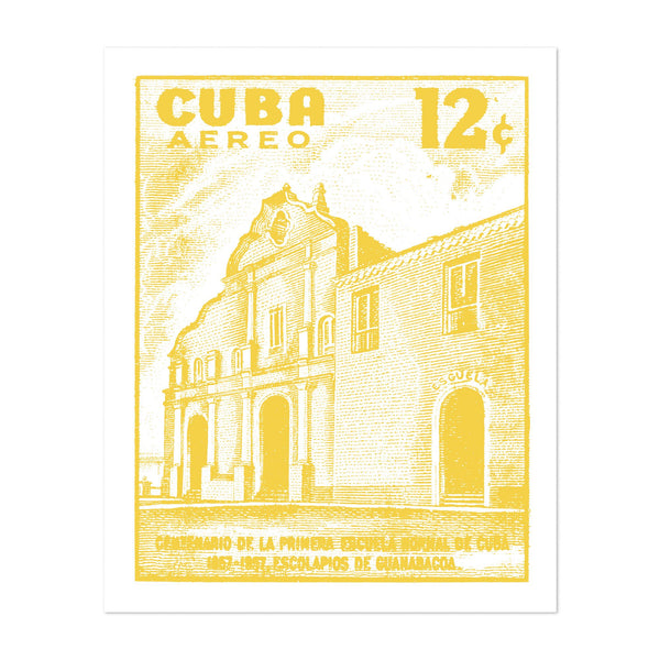 Cuba Architecture Urban Illustration Art Print