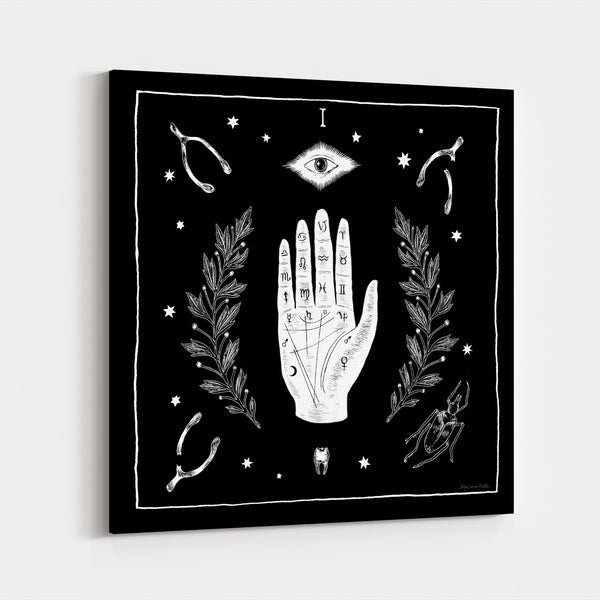 Black And White Holiday Spiritual Canvas