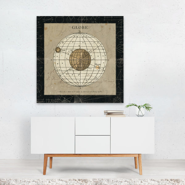Globe Maps Moon Planets Retro Canvas