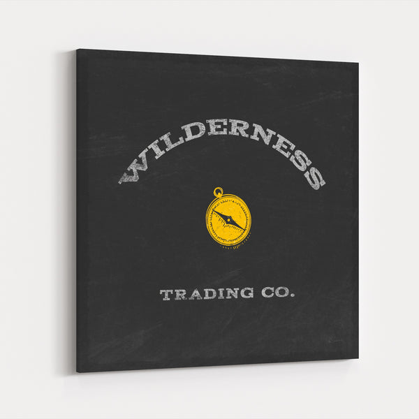Houses Nature Wilderness Typography Canvas