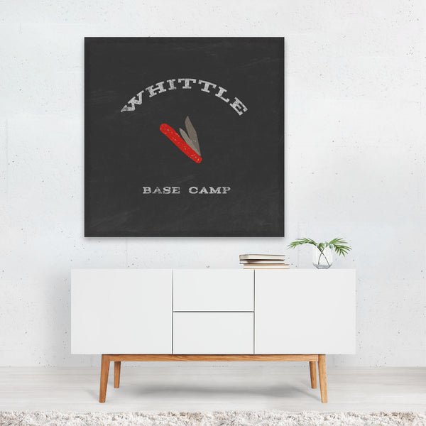Camping Houses Typography Canvas