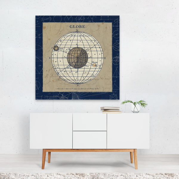 Geometric Geometry Globe Maps Planets Canvas