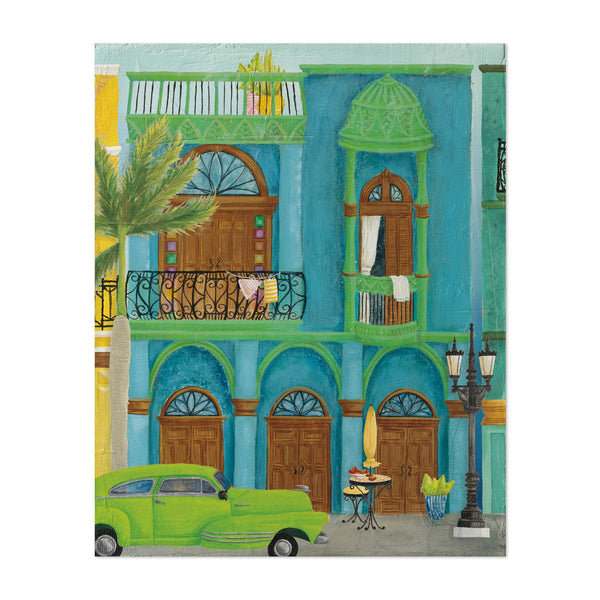 Havana Cuba Cars Palm Trees Retro Art Print