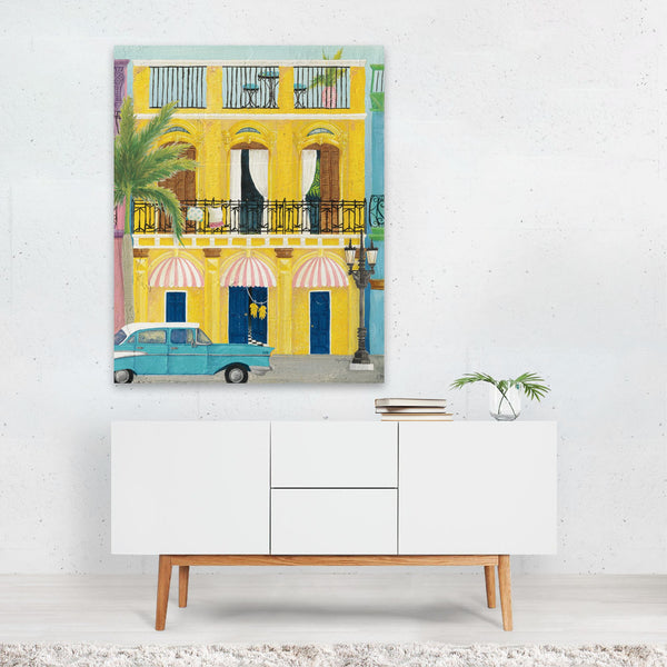 Havana Cuba Urban Cars Palm Trees Art Print