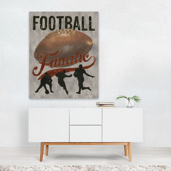 Sports Retro Football Typography Art Print