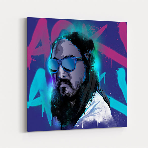 Neon Illustrations Aoki Tecnificent Canvas