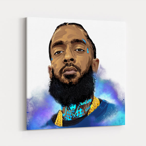 Music Nipsey Hussle Portrait Canvas