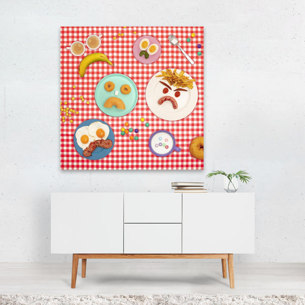 Banana Breakfast Coffee Donuts Canvas