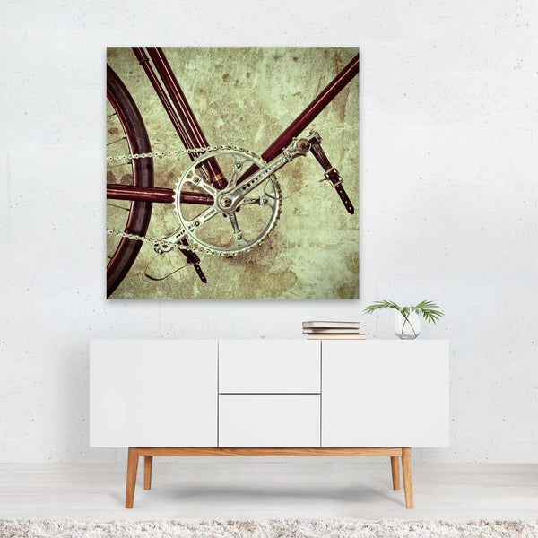 Bicycle Cycling Retro Sports Canvas