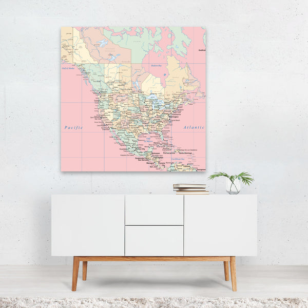Atlas Travel Poster Canvas