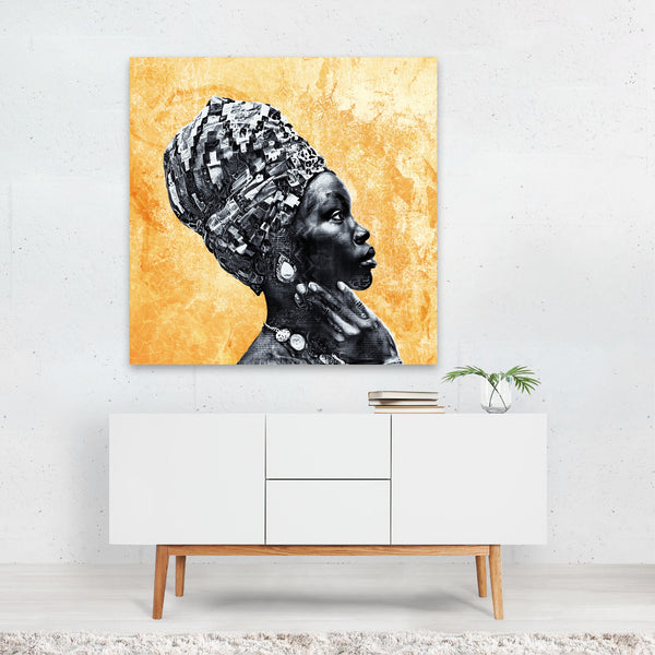 New York Abstract Modern Portrait Woman Canvas