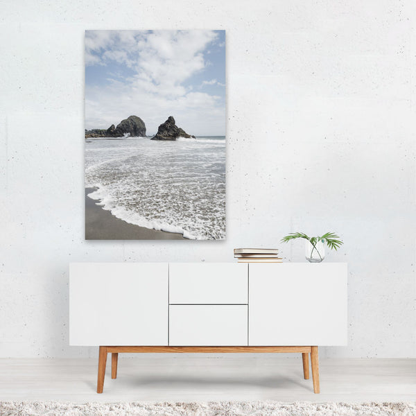 Oregon Beach Waves Nature Photo Art Print